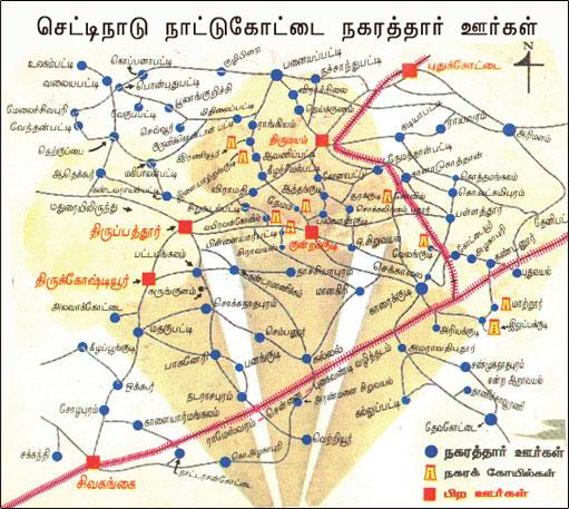 Chennai Nagarathar Chettinad Map